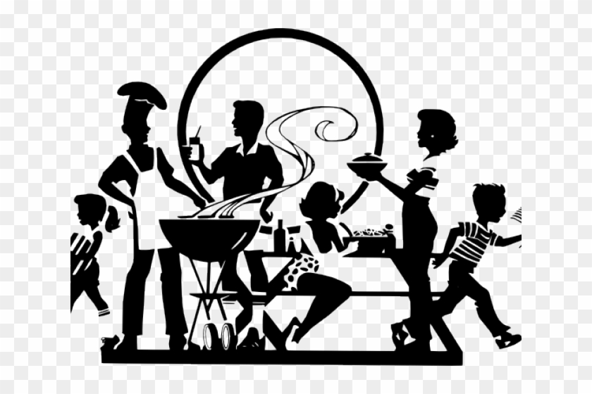 Barbecue Clipart Black And White.