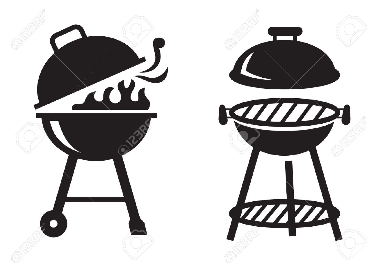Bbq grill clipart black and white 1 » Clipart Station.
