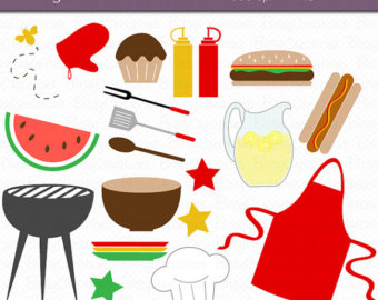 Barbecue cookout clipart.