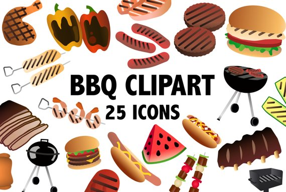Bbq food clipart 3 » Clipart Station.