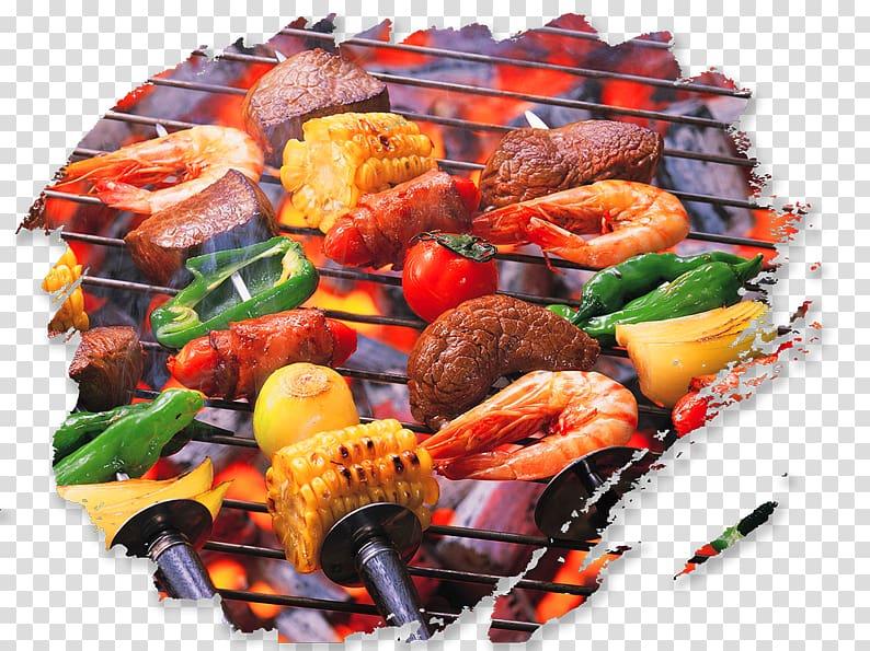 Seafood kebab, Barbecue Hamburger Chuan Food, BBQ on the tongue.