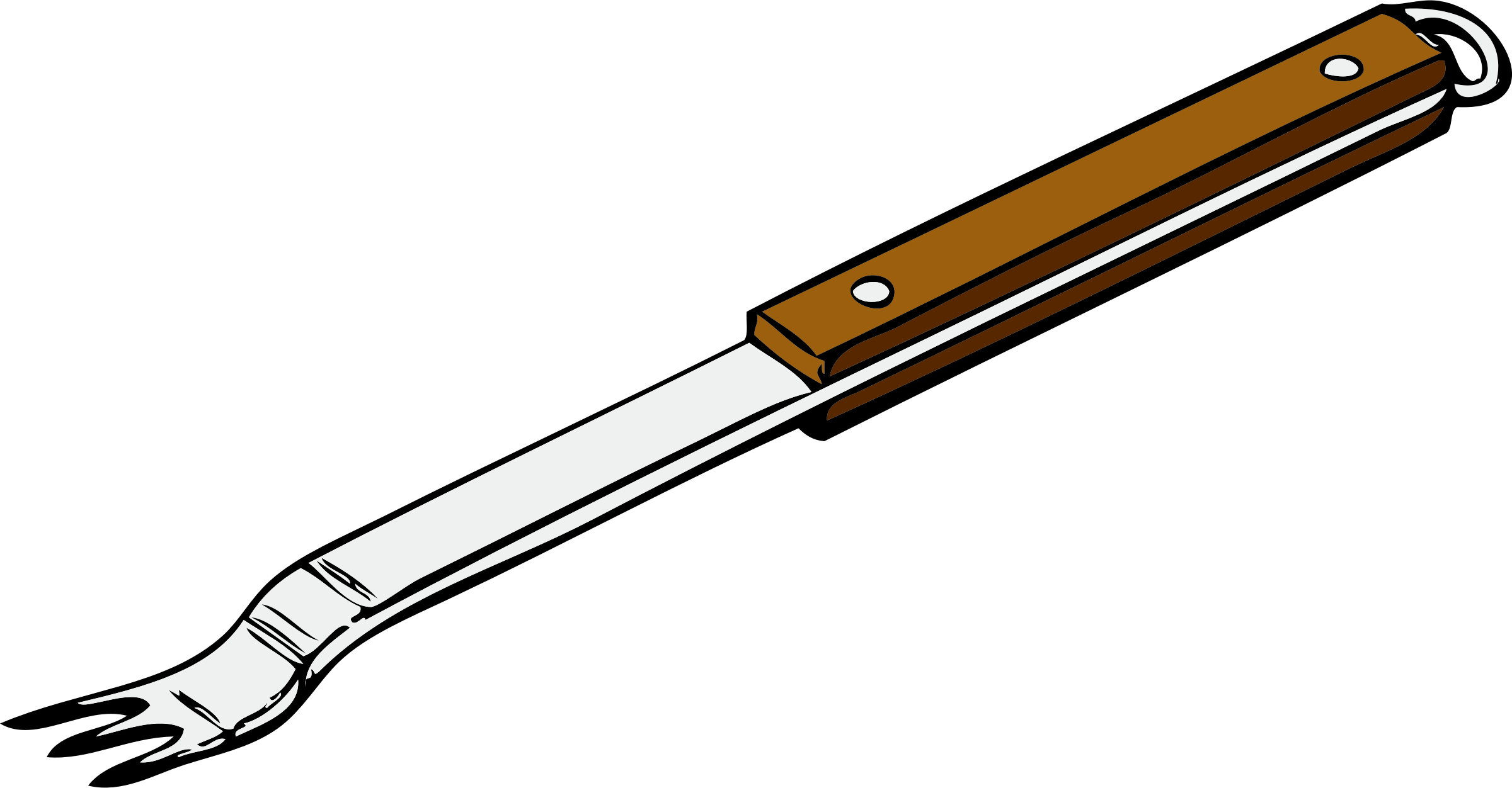 Bbq fork clipart.