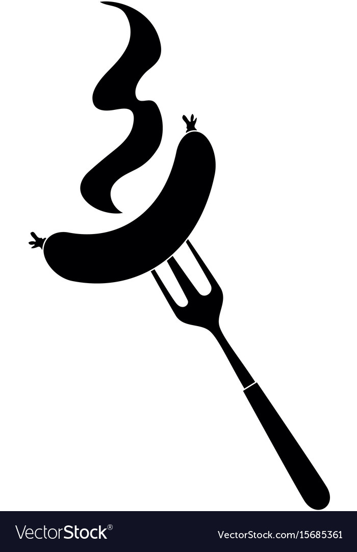 Bbq fork with sausage.