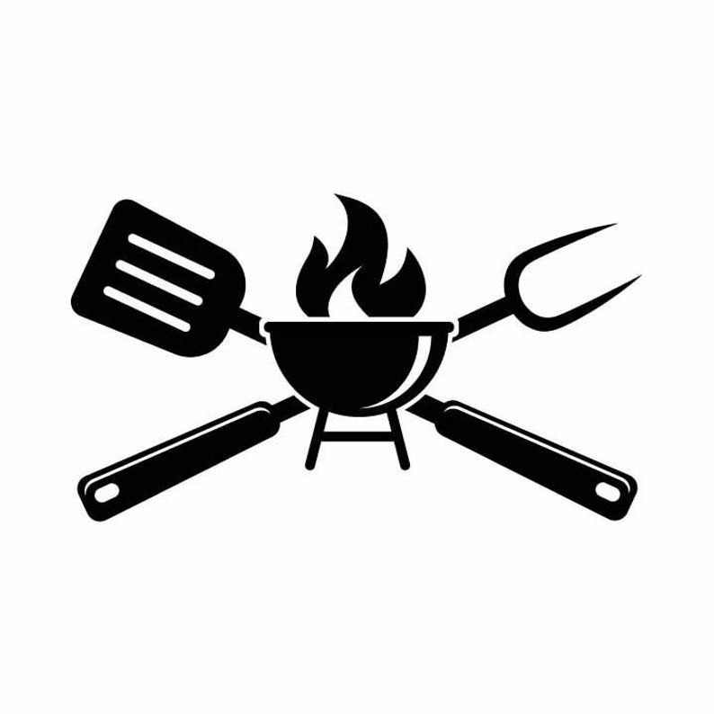 BBQ Grilling Grill Fork spatula Barbecue cooking 1 vector .eps, .svg, .dxf  & 1 .png Vinyl Cutter Ready, T.