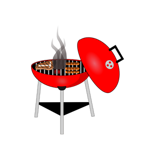 Red BBQ Grill clipart, cliparts of Red BBQ Grill free download (wmf.