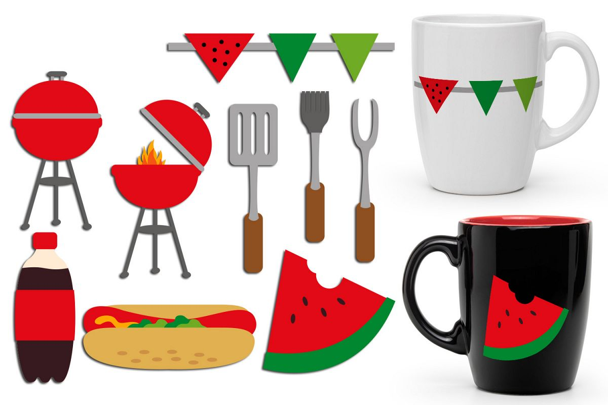 Summer Barbecue party clipart.