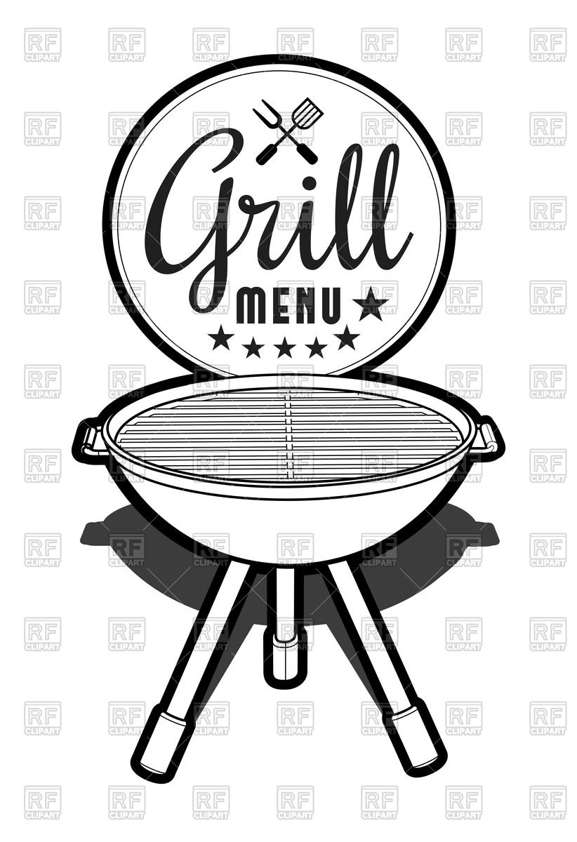 Barbecue grill icon Stock Vector Image.