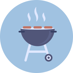 Barbecue Icon Flat.