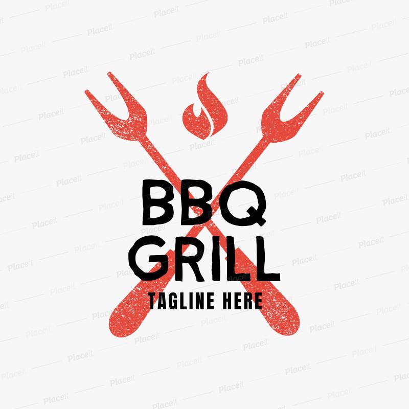 BBQ Grill Logo Maker 1674.