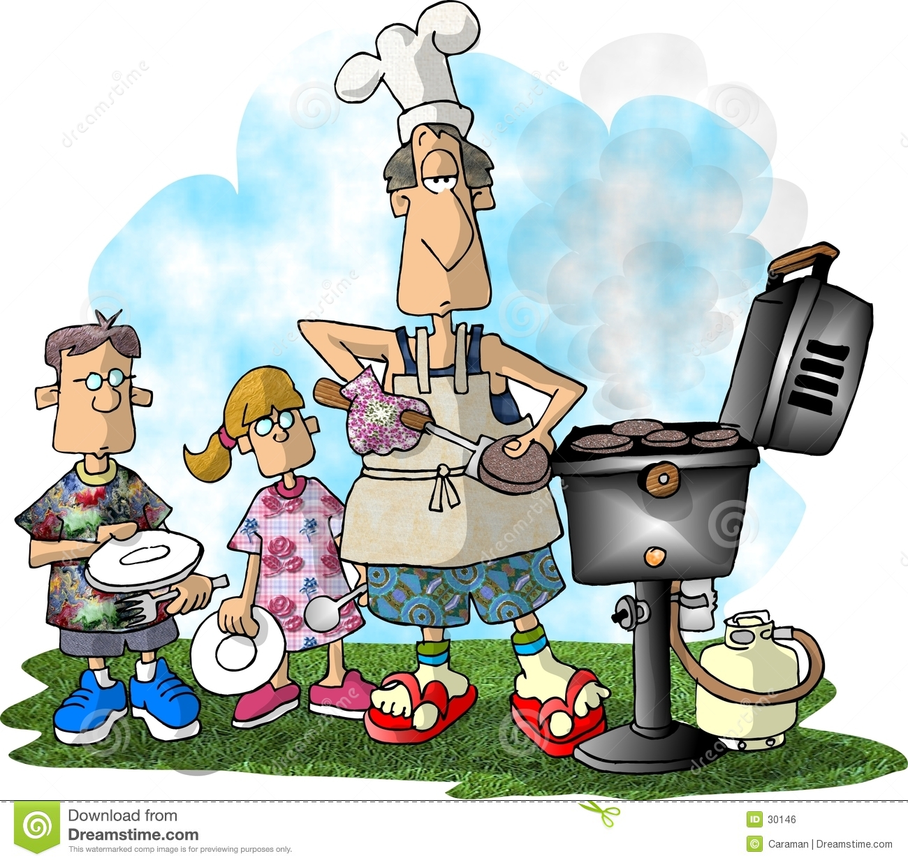 Barbecue Party Clipart.