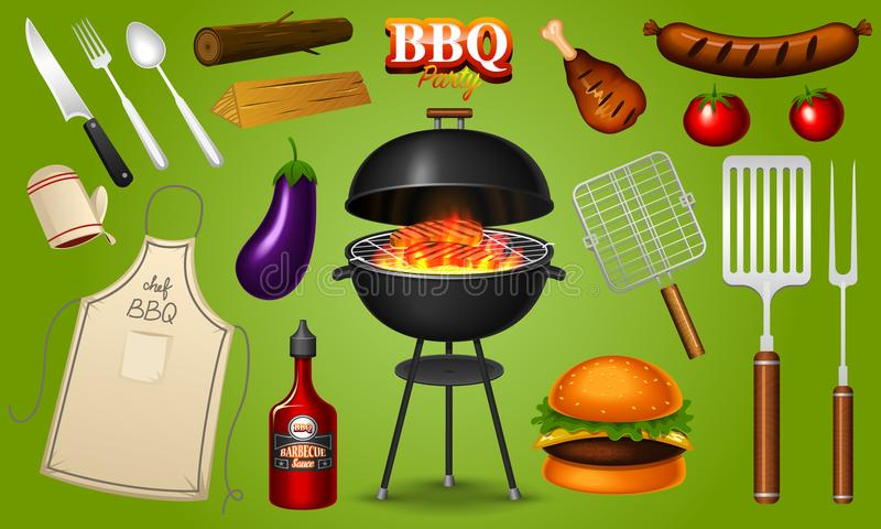 Bbq Party Stock Illustrations.