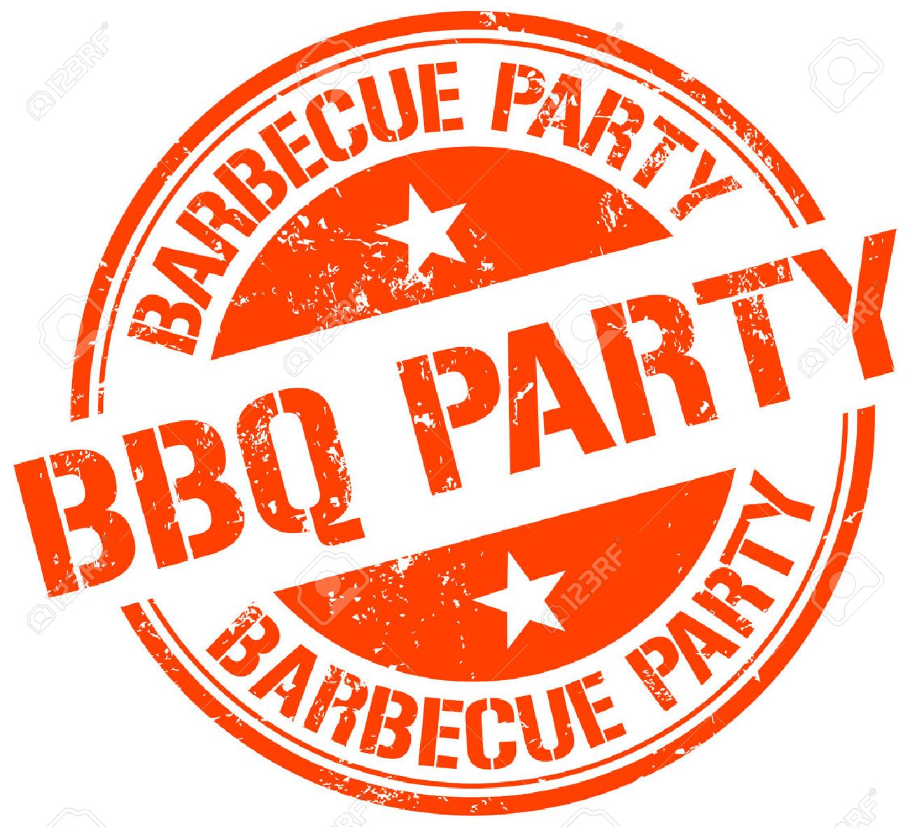 bbq party stamp.