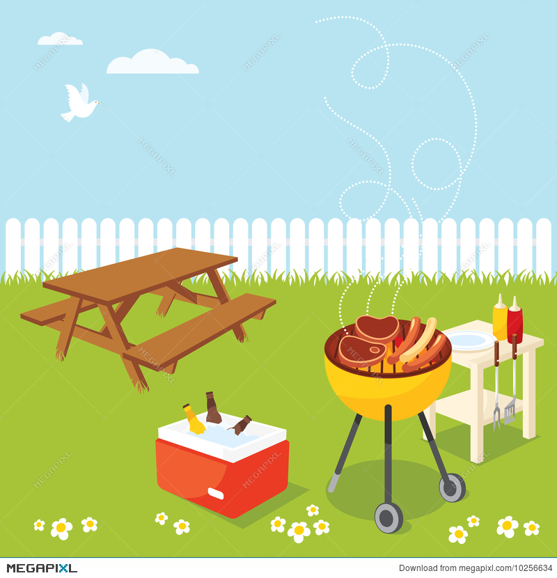 Bbq clipart picnic table, Bbq picnic table Transparent FREE.
