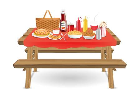 6,300 Picnic Table Cliparts, Stock Vector And Royalty Free Picnic.
