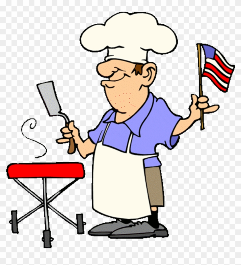 Funny Patriotic Barbecue Guy Free 4th Of July Clipart.