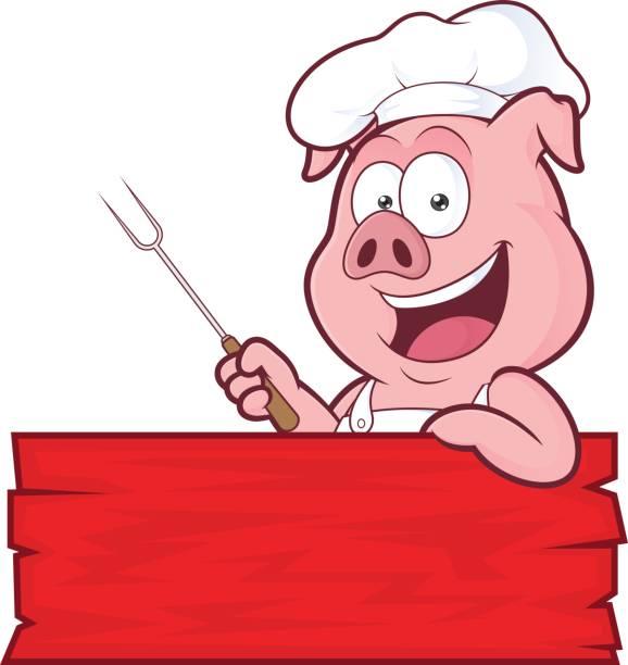 Best Pig Roast Illustrations, Royalty.