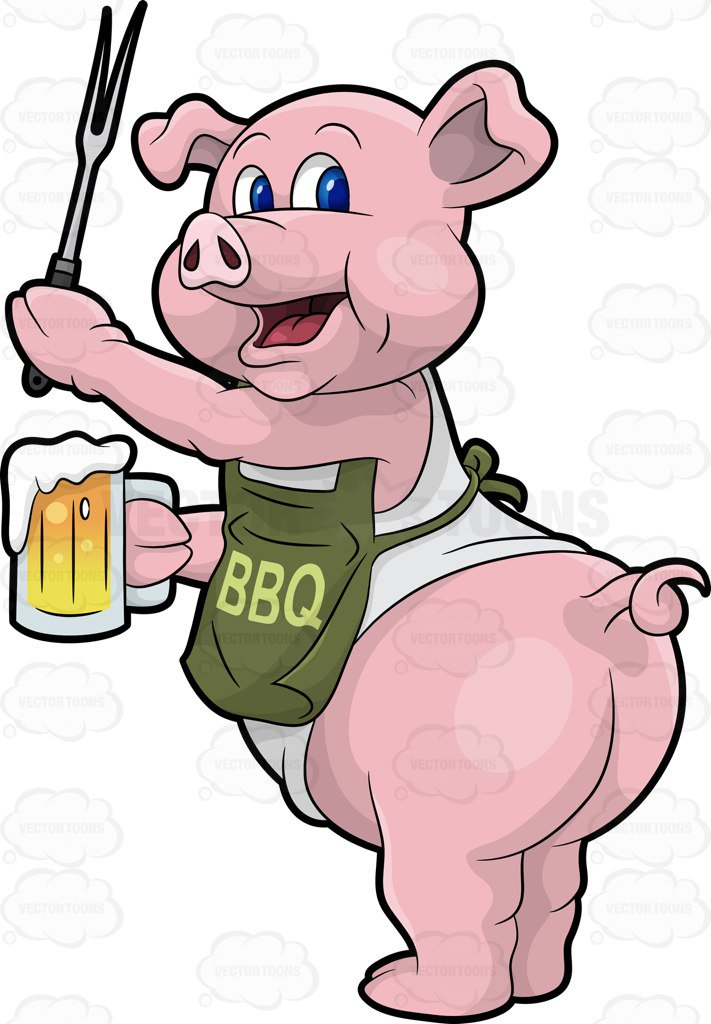 Bbq pig clipart 5 » Clipart Station.