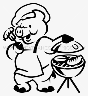 Free Bbq Grill Black And White Clip Art with No Background.