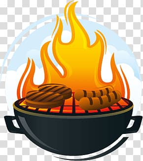 Lighted charcoal grill, Bbq transparent background PNG.