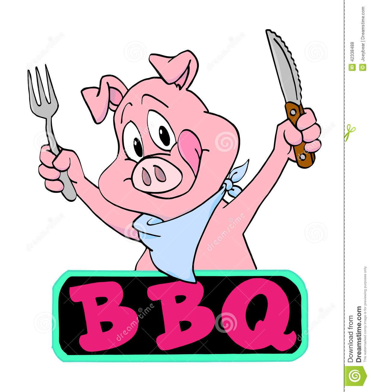 Pig Bbq Cartoon.