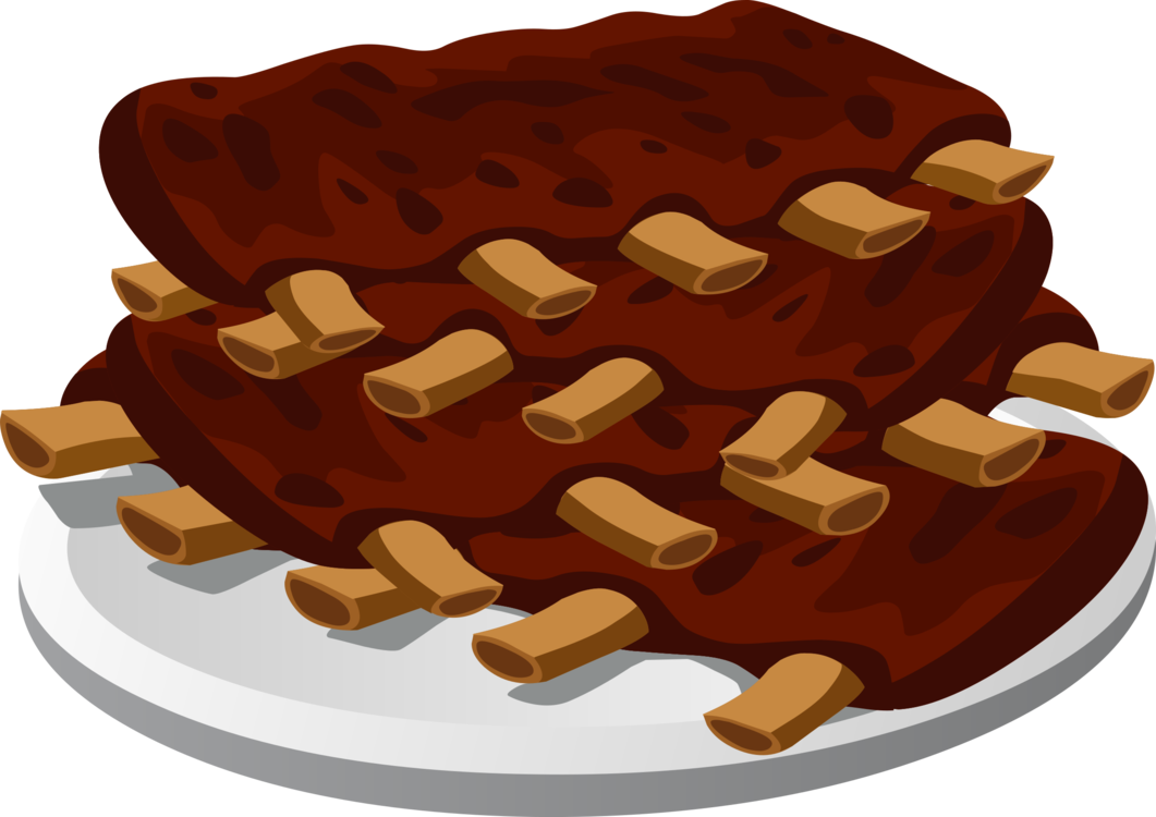 Food,Chocolate,Spare Ribs Vector Clipart.