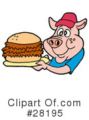 Pulled Pork Sandwich Clipart #1.