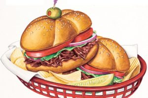 Bbq sandwich clipart 3 » Clipart Station.