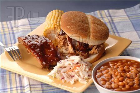 BBQ Pulled Pork Clip Art.