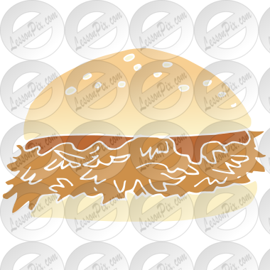 BBQ Sandwich Stencil for Classroom / Therapy Use.