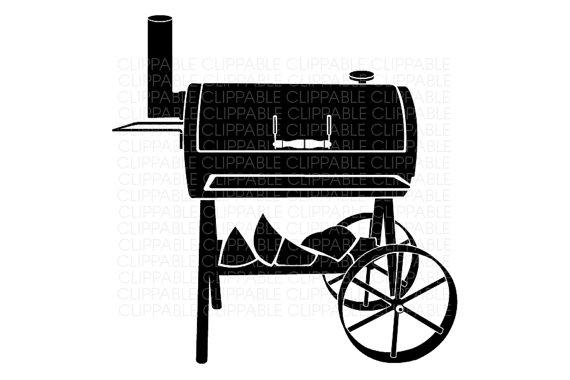 BBQ Smoker Grill Clip Art.