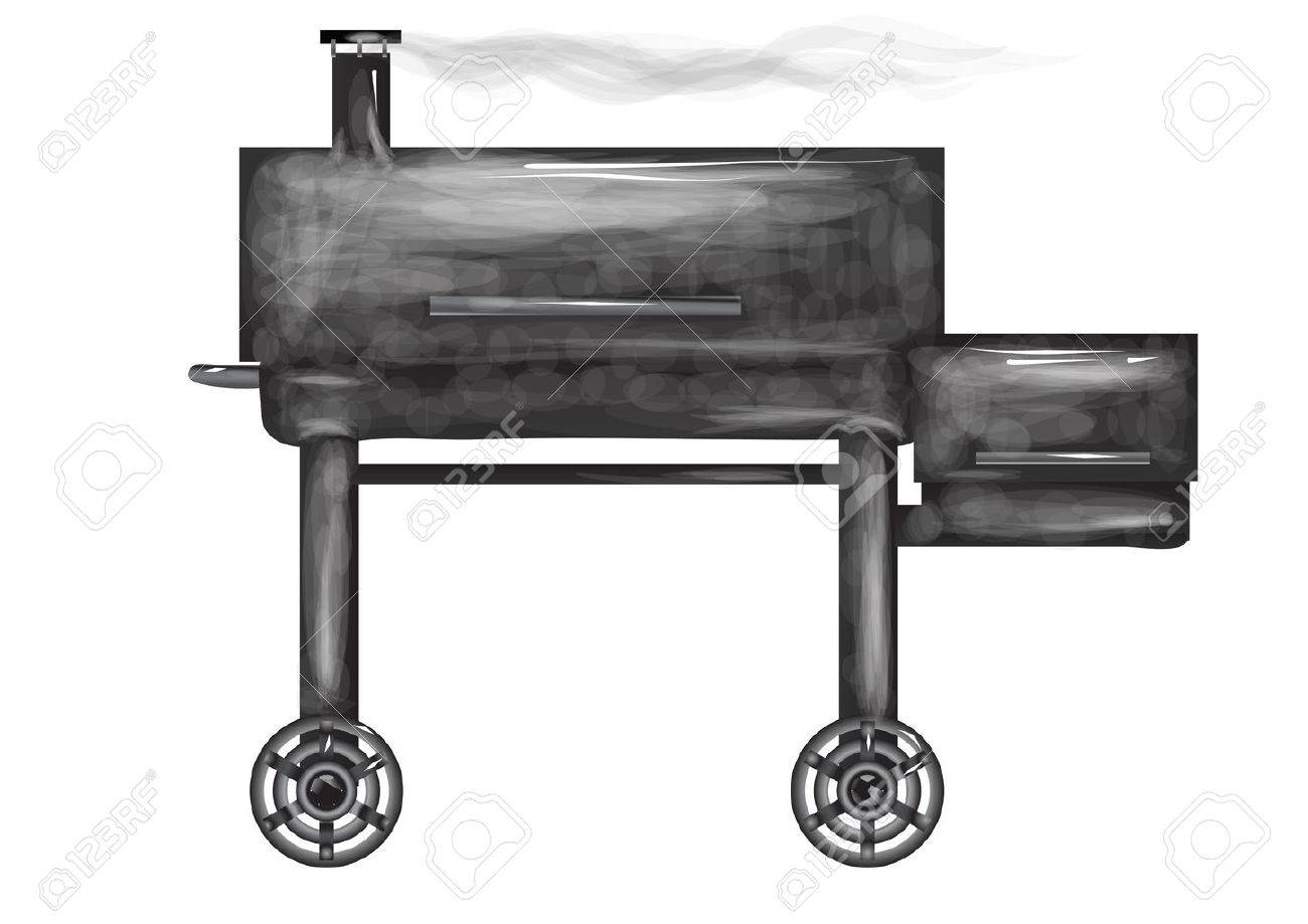 smoker stove isolated on a white background.