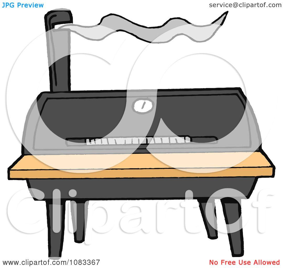 Clipart Barrel Barbecue Smoker.