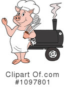 Bbq Smoker Clipart #1.