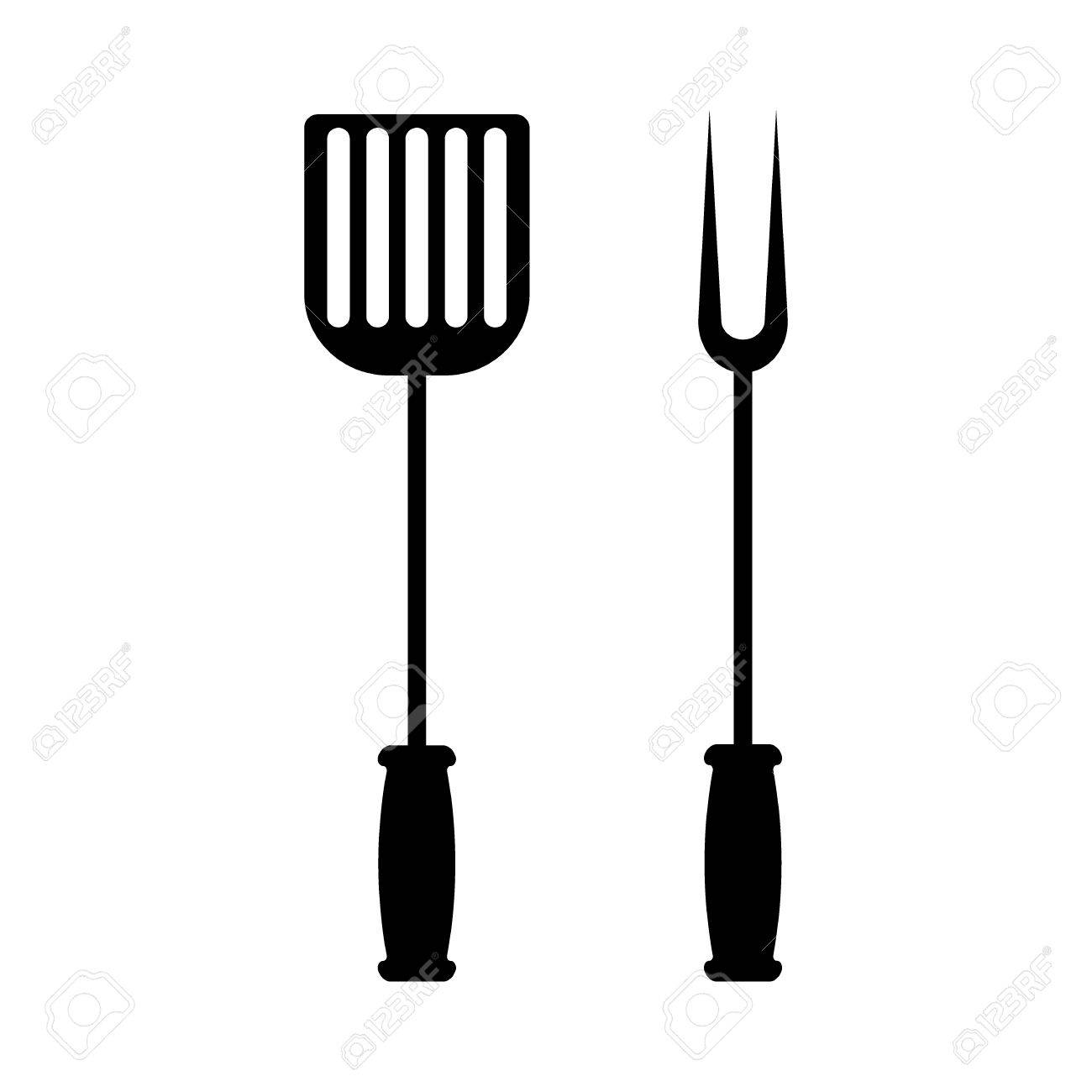 BBQ or grill tools icon.