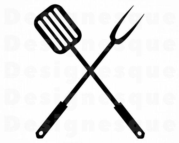BBQ Logo SVG, Bbq SVG, Spatula, Grill, Grilling, Bbq Clipart, Bbq.