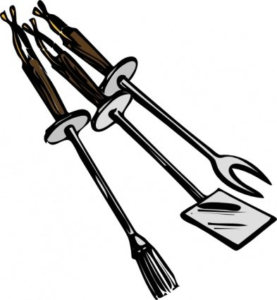 Free Bbq Grilling Tools Clipart and Vector Graphics.