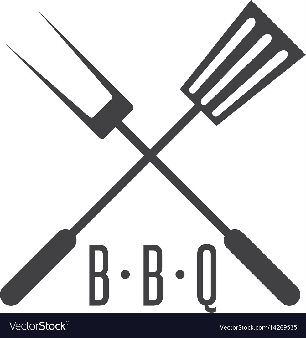 Bbq tools simple icon design template.