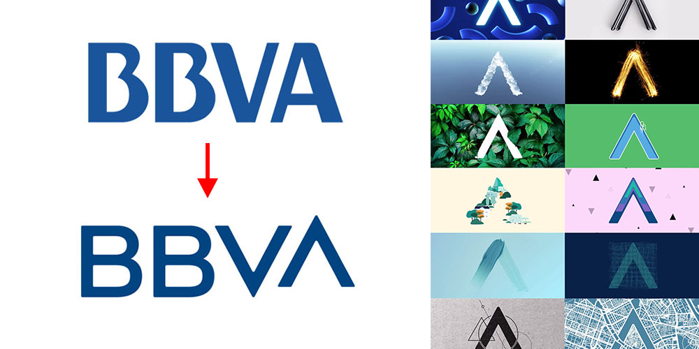 Trends: logo shape as template for fluid content.