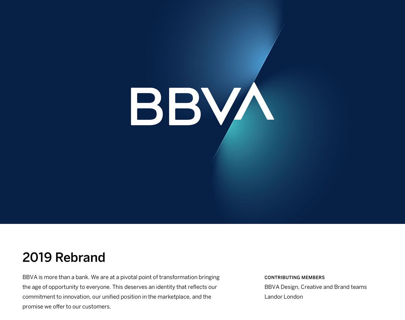 BBVA Rebrand 2019 on Behance.