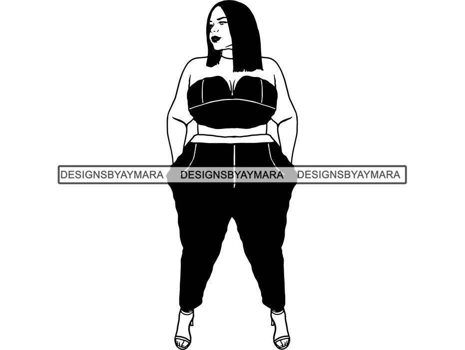 Thick Woman SVG BBW Big And Bougie Sexy #401719.