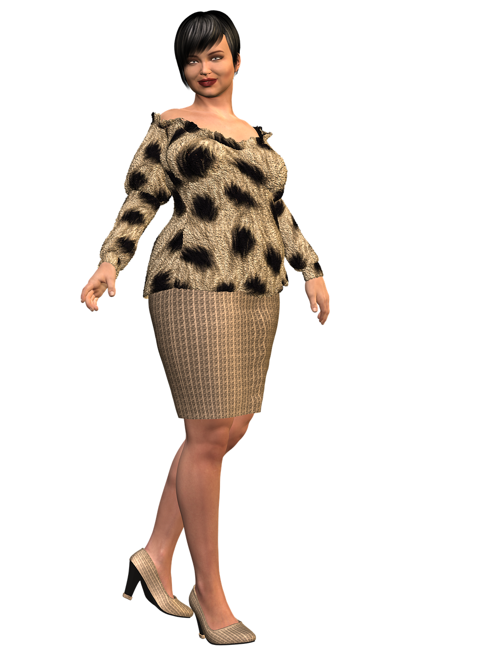 Sassy Lady Bbw Woman Female PNG.