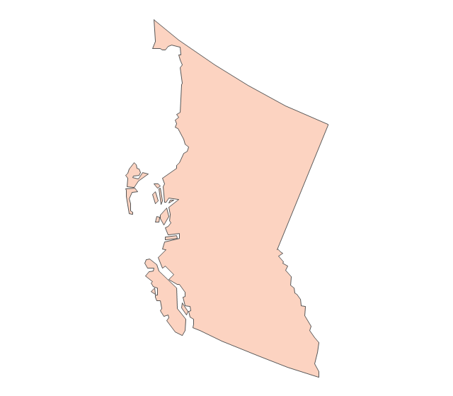 Bc map clipart.