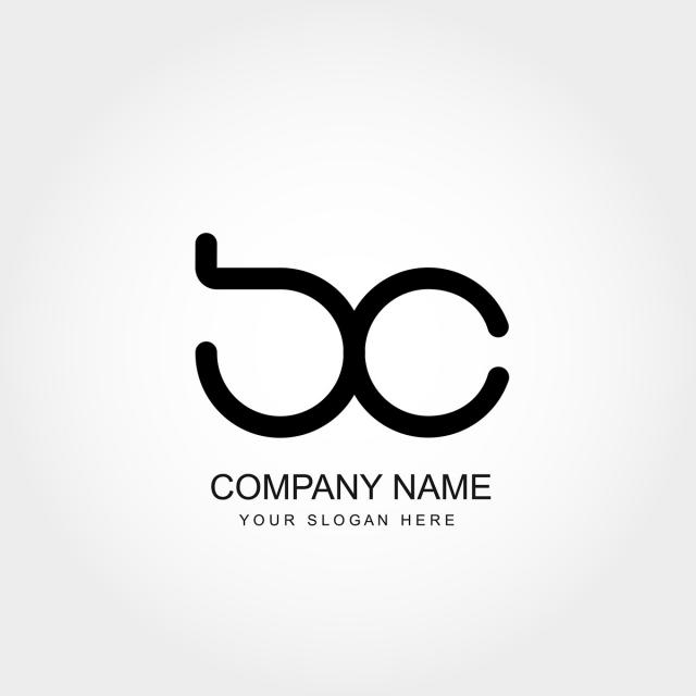 Initial Letter Bc Logo Template Vector Design Template for Free.