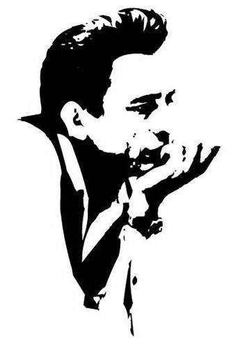 Johnny Cash Silhouette Tattoo.