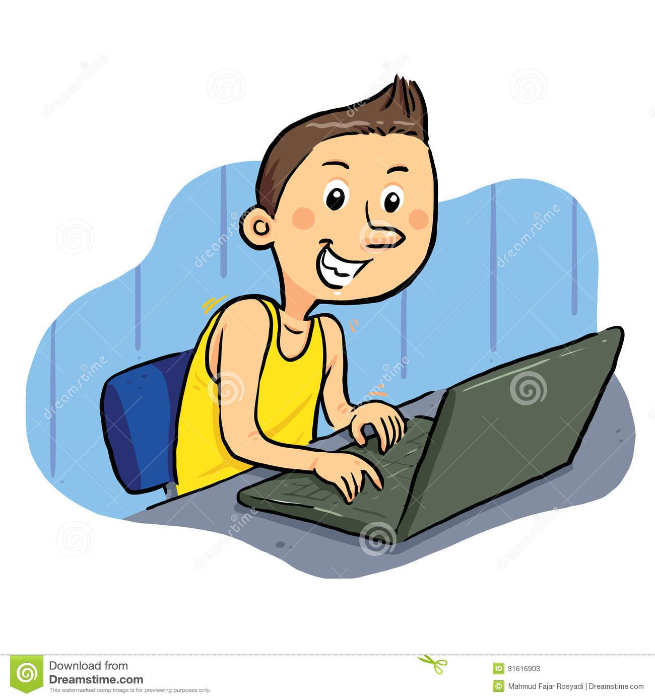 Laptop Geek Stock Photos.
