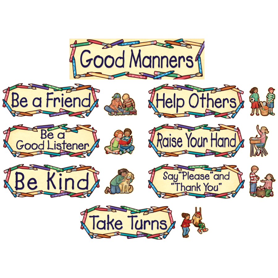 Good Manners At School Clipart.