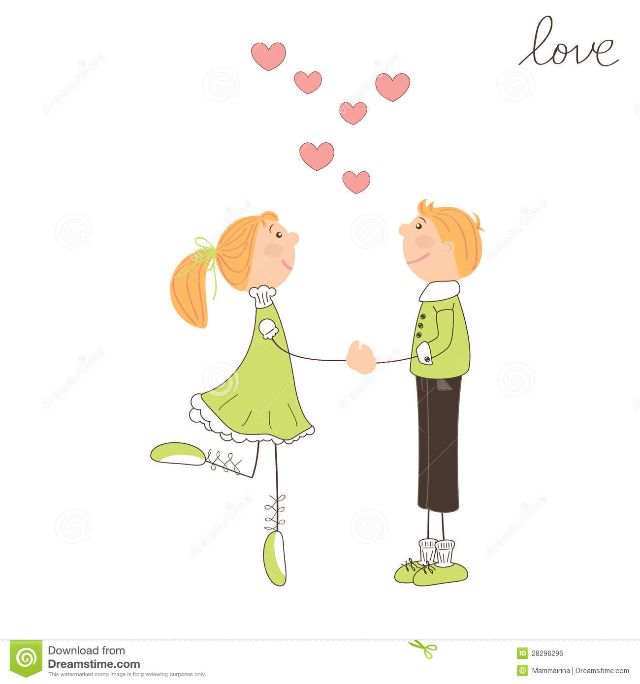Free clipart for falling in love.