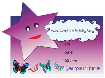 Clip art for birthday party invitations.
