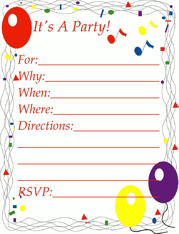 Invitation Clipart.