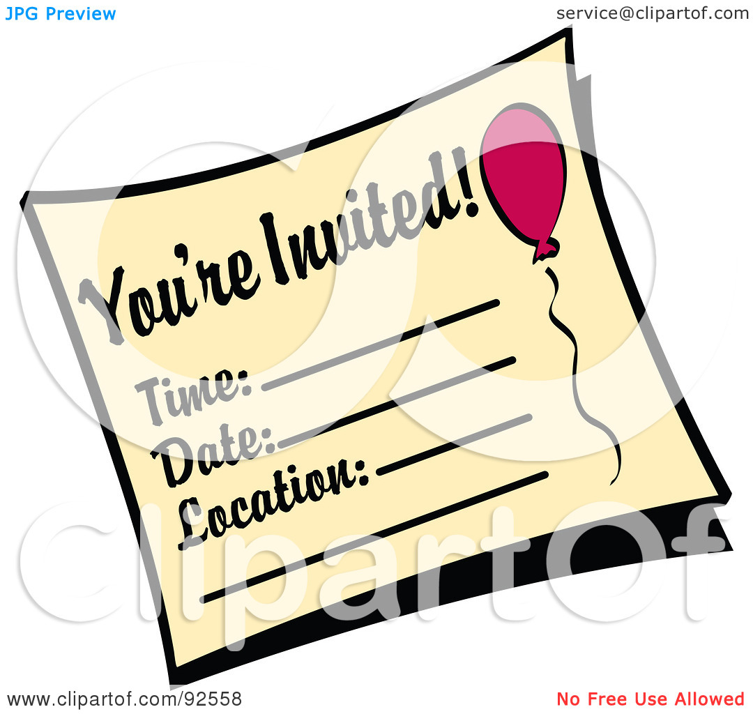 You're Invited Clipart.